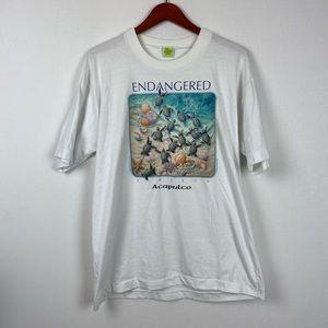 Endangered Species Sea Turtles Vintage T-shirt